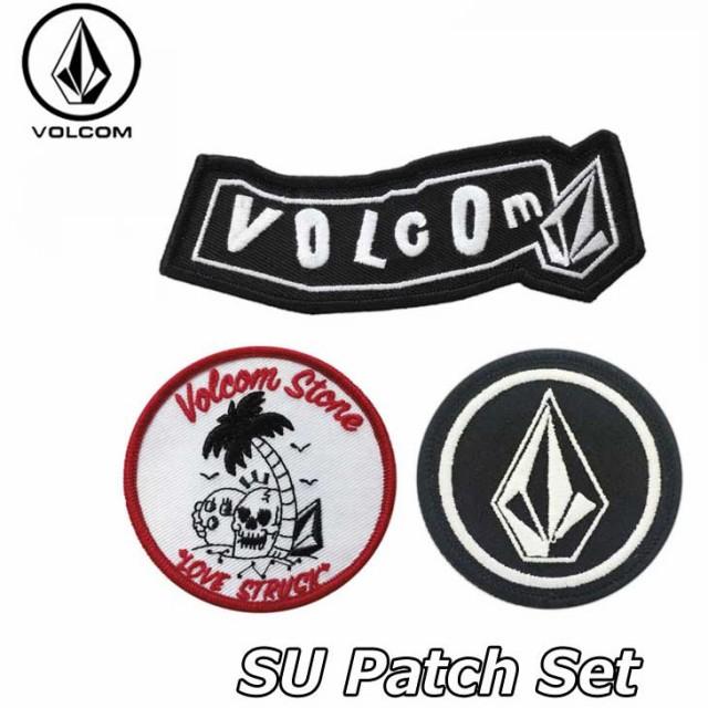 volcom ボルコム ワッペン 3枚セット SU Patch Se...
