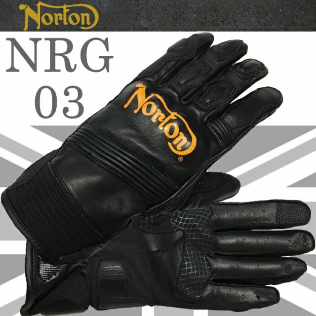 NORTON ノートン グローブ NRG03 イエローロゴ オ...