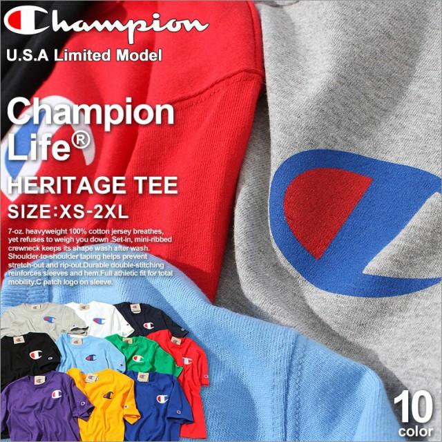 Champion チャンピオン tシャツ メンズ 半袖 大き...