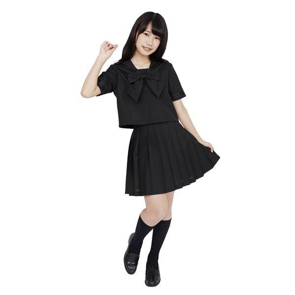 〔コスプレ〕 カラーセーラー 黒M