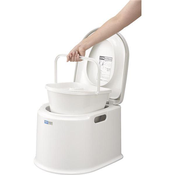 ポータブルトイレ/簡易トイレ 〔P型〕 液ダレ防止...