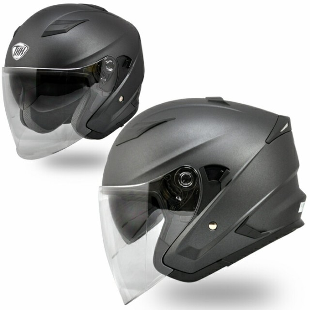 【THH】 インナーサンバイザー装備 ジェットヘル...
