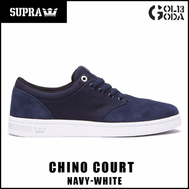 スープラ  SUPRA CHINO COURT/NAVY-WHITE (08058-...