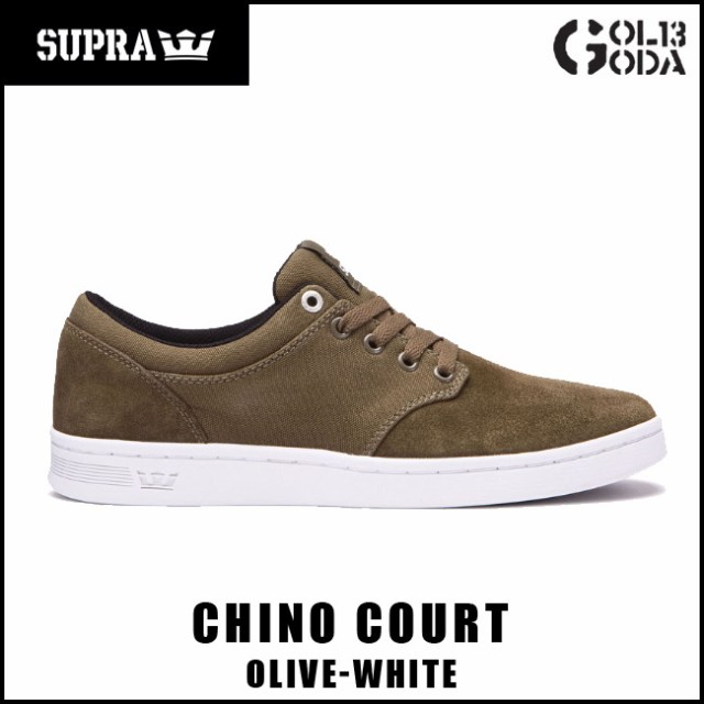 スープラ  SUPRA CHINO COURT/OLIVE-WHITE (08058...