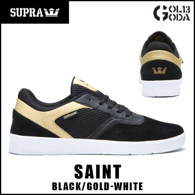 スープラ  SUPRA SAINT/BLACK/GOLD-WHITE (05674-...