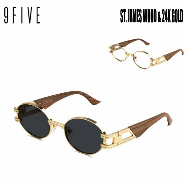サングラス 9FIVE ST. James WOOD & 24K GOLD ナ...