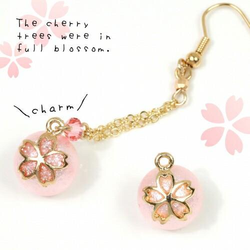 【チャーム】桜パール 12mm  《薄ピンク》 [真...