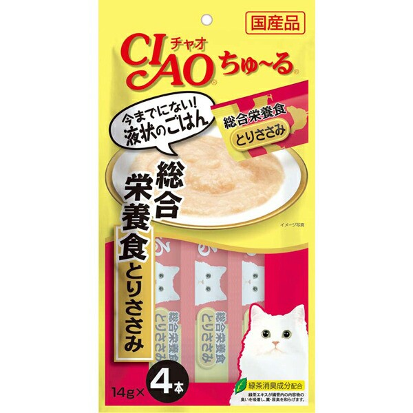 チャオ ちゅ〜る 総合栄養食 とりささみ 14g×4本...