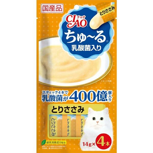 チャオ ちゅ〜る 乳酸菌入り とりささみ 14g×4本...