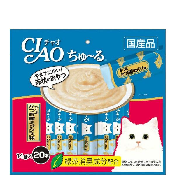 チャオ ちゅ〜る かつお かつお節ミックス味  14g...