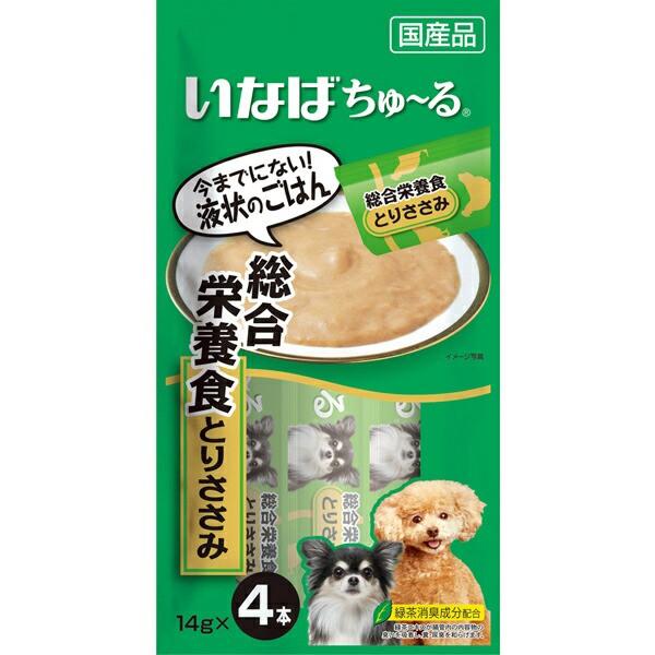 いなば 犬用ちゅ〜る 総合栄養食 とりささみ 14g...