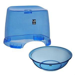アンティークリスタル 風呂椅子・丸湯桶セット ...