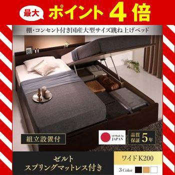 組立設置付 国産大型収納ベッド Landelutz ランデ...