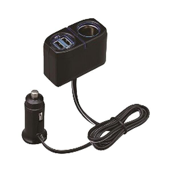 シガーソケット USBソケット 2口 2.4A スマホ/iPh...