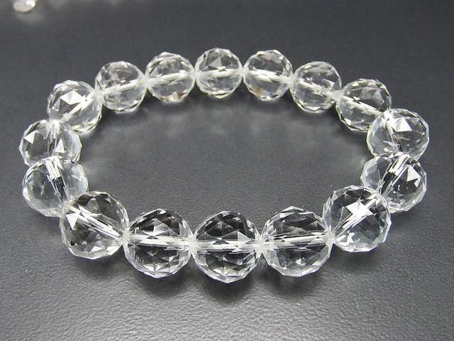 石街天然石AAA水晶ダイヤモンドカット約13mm大玉...