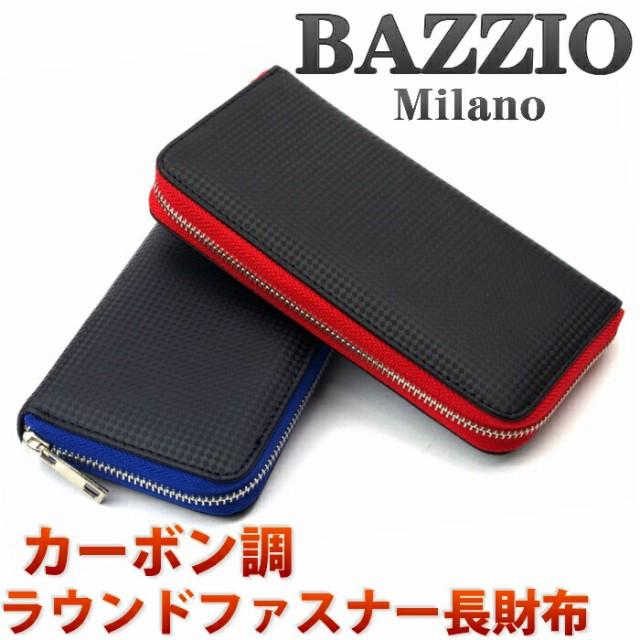 メンズ ラウンドファスナー 長財布 BAZZIO Milan...