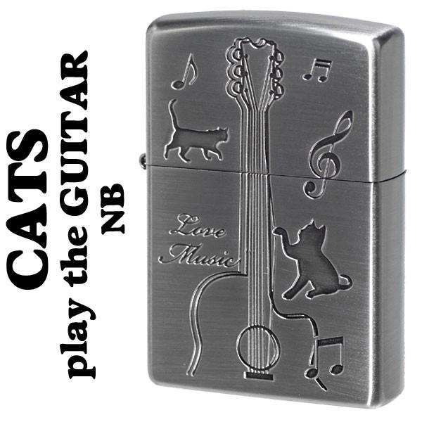 zippo(ジッポーライター)猫 キャットギター CATS ...