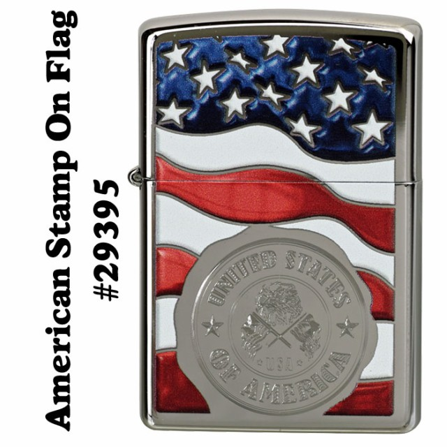 zippo(ジッポーライター)American Stamp On Flag ...