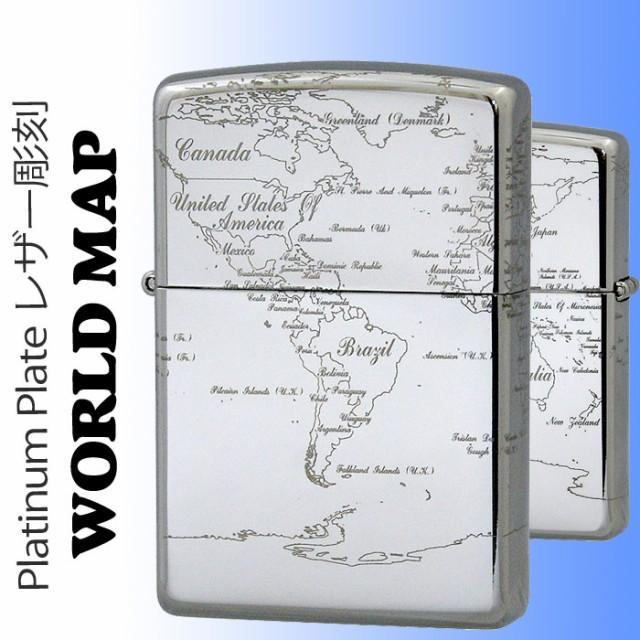 zippo(ジッポーライター) WORLD MAP (ワールドマ...