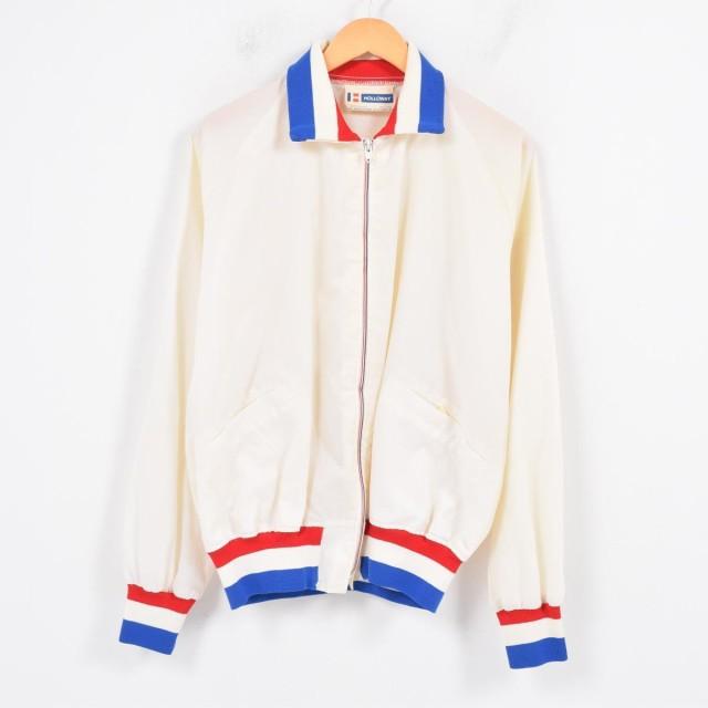 60〜70年代 HOLLOWAY フルジップ 襟付き ナイロン...