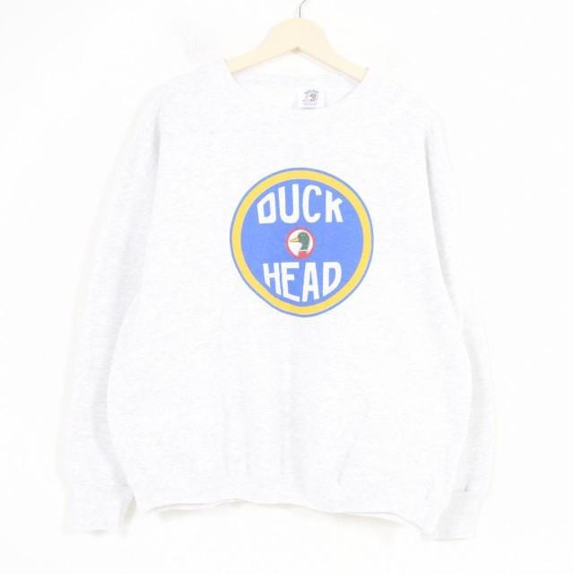 90年代 DUCK HEAD ロゴプリントスウェット トレー...