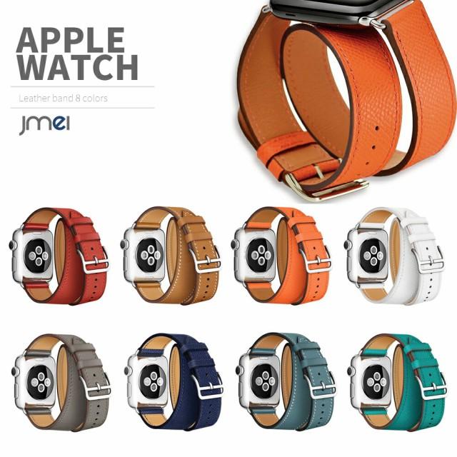 apple watch バンド 本革 レザー 二重まき型 42mm...
