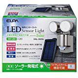 送料無料!ELPA ソーラー 3W LEDセンサーライト 2...
