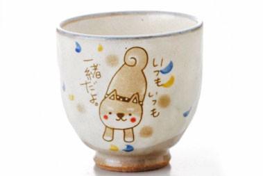 和食器 柴犬 かわいい/ 柴犬 湯呑(青)  /湯飲み ...