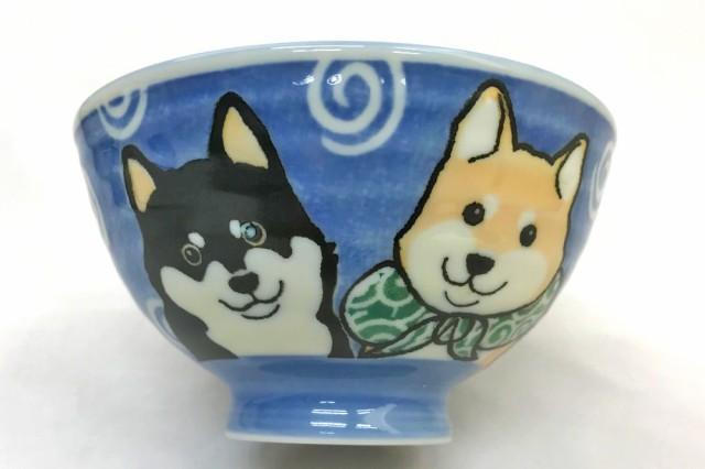 犬好き 飯椀 飯器/ 柴犬茶碗 大平 /男性用 家庭