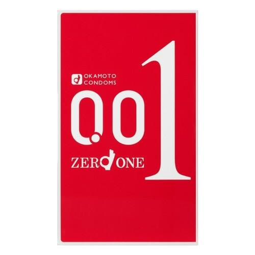 【ゆうメール便!送料80円】オカモト ゼロワン(001) 3個入り [okamoto][コンドーム][0.01ミリ]