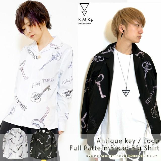 KMK アンティークキー総柄オープンカラーシャツ i...