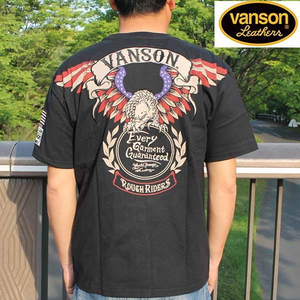 バンソン VANSON Tシャツ メンズ ブラック NVST-8...