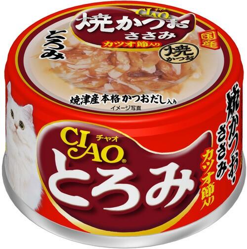 チャオ とろみ 焼かつお ささみ カツオ節入り 缶...