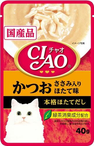 チャオ CIAO チャオパウチ かつお ささみ入り ほ...