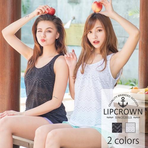 【即納】【カラバリ2色】LipCrown レース タンク...
