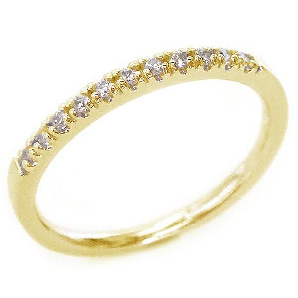 ゴールド K18 ダイヤモンド ハーフ エタニティー ...