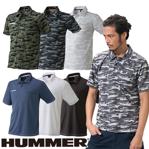 作業服 ポロシャツ 半袖 HUMMER ハマー 半袖ポロ...