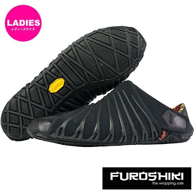 ビブラム フロシキ シューズ レディース Vibram FUROSHIKI shoes スニーカー ビブラムソール 靴 Black (18WAD06)
