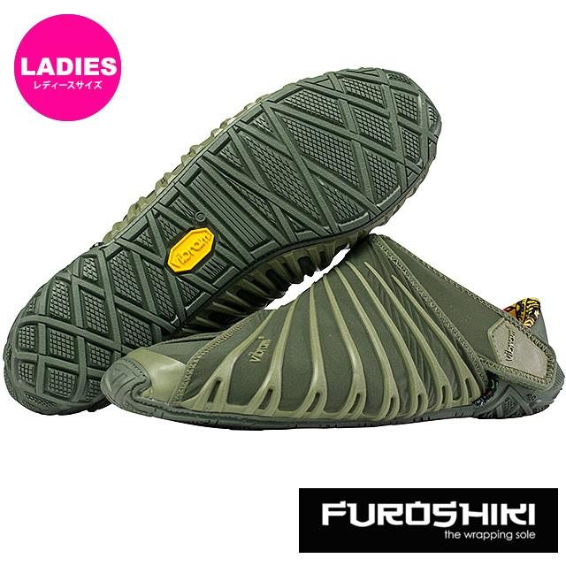 ビブラム フロシキ シューズ レディース Vibram FUROSHIKI shoes スニーカー ビブラムソール 靴 Olive (18WAD04)