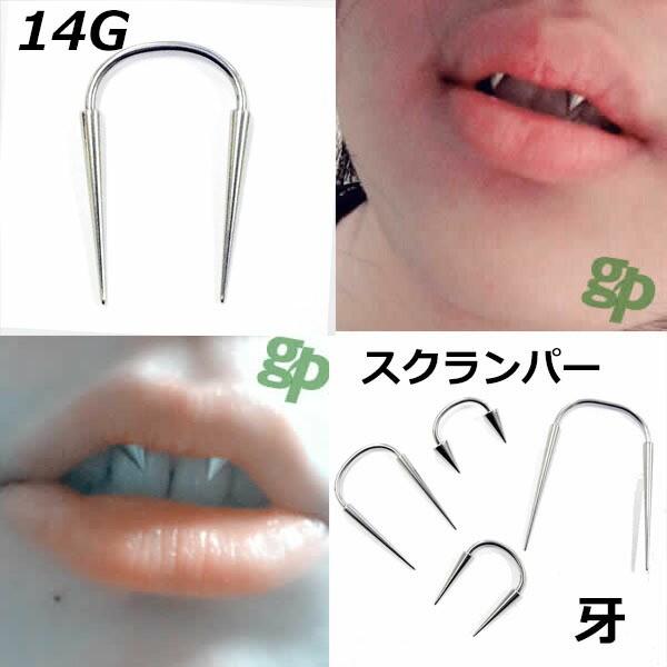 [14G 牙 ボディピアス] スクランパー用 ボディー...