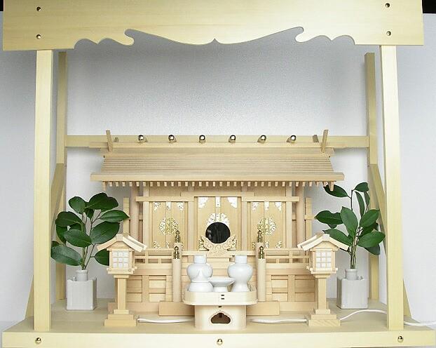 神棚 神具 セット 高級天然木曽桧 神明造り 伊勢 ...
