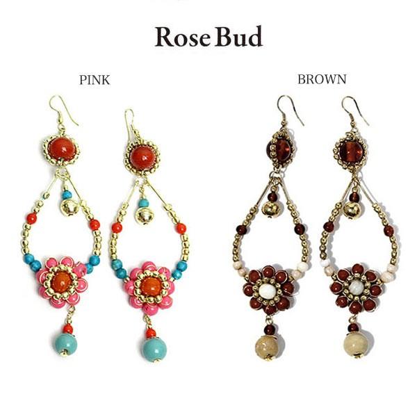 ROSE BUD ローズバッド フラワードロップピアス 0...