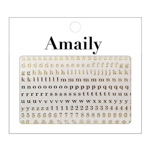 Amaily ネイルシール NO.4-9 アルファベット 小G ...