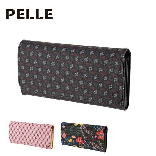 送料無料/ペレ/PELLE/かぶせ長財布/Cube/キューブ...