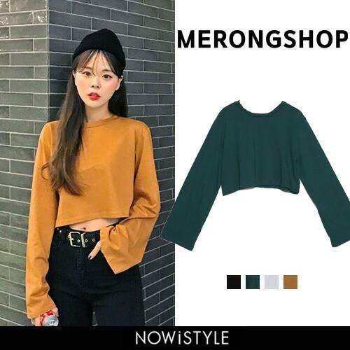 【MERONGSHOP】デイリークロップドTシャツ【5】【...