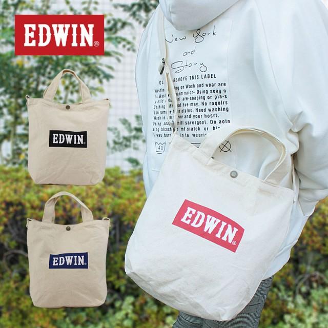 エドウィン EDWIN 2WAY BOXロゴショルダートート ...