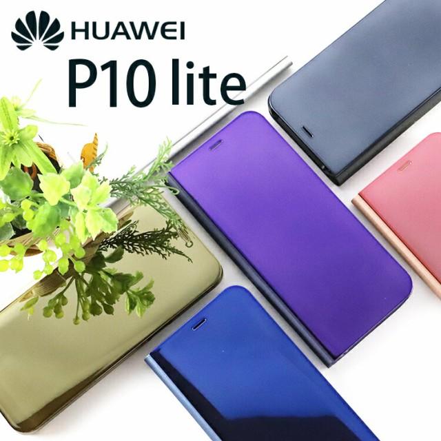Huawei P10 lite ケース 閉じたまま画面を確認で...