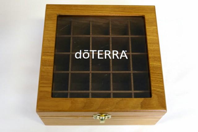 ドテラ ウッドボックス ライトブラウン 窓付き do...
