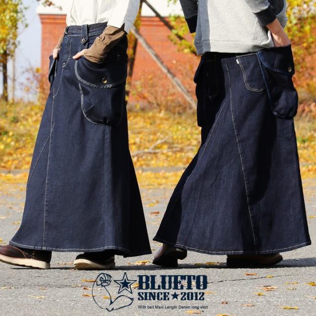 (ブルート) BLUETO スカート デニム リメイク風 ...