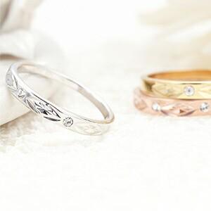 ピンキーリング 指輪 小指 日本製 表面加工 ダイ...
